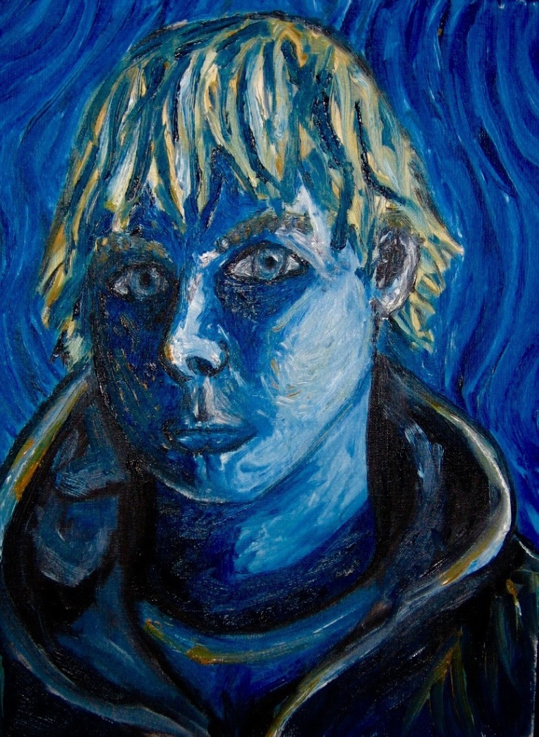 """""""Self-Portrait in Second Year"""" by Scott Sorge, MS4"""